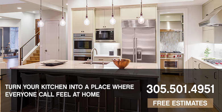 Call 305-501-4951 for custom kitchens in South Florida